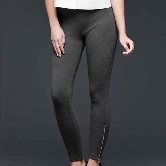 9077da384c0ce GAP Pants | Charcoal Ponte Ankle Zip Leggings | Poshmark